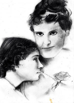 Helen Keller and Anne Sullivan by Tsalagi515