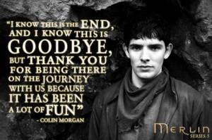 Merlin: Colin Morgan's Goodbye :( :( :(