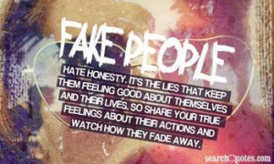 Do you think most fake people don't realize they are fake?