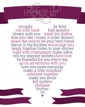 Promise To Love You Forever I promise to love you