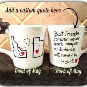 Best friend mug, quote mug, unique coffee mug, going away gift, state ...