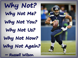 Russell Wilson Seattle Seahawks Photo Quote Mini Poster Wall Art Print ...