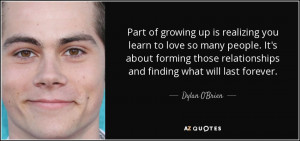 Dylan O 39 Brien Quotes Inspirational