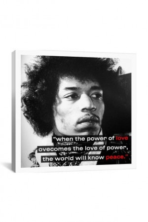 Canvas Print: Jimi Hendrix Quote