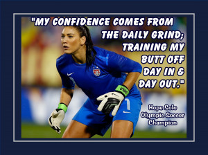 Soccer Poster Hope Solo Goalkeeper Champion Photo by ArleyArt