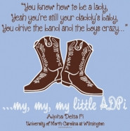 cute cowboy boots daddy's little girl quote for dad's weekend.
