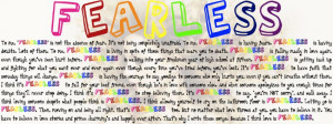 Taylor Swift Fearless Quote