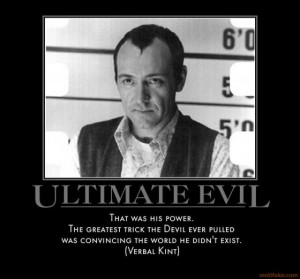 """Kevin Spacey as an evil genius in the 1994 movie """"The Usual Suspects ..."""