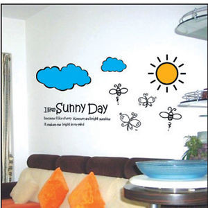 Details about Sunny day..:Quotes & sayings Decorative wall art words ...