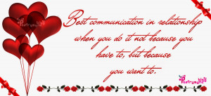 Best communication in relationship when you do it not because you ...