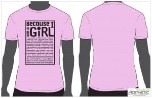 ... coach inspired to create Because I am a Girl t-shirt contest