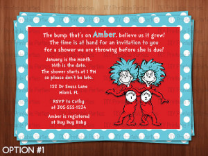 ... Thing 1 Thing 2 Personalized Twin Baby Shower Invitation Digital File