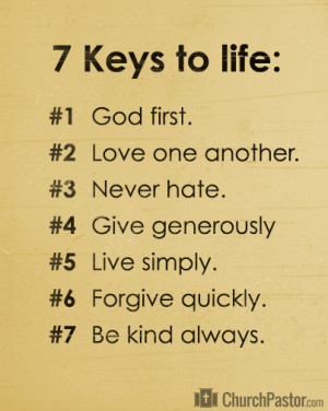 Keys To Life | Bible Quotes