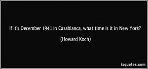 If it's December 1941 in Casablanca, what time is it in New York ...