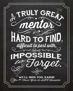 ... gift idea for that special mentor in your life - for retirement