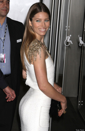 Jessica Biel White Dress