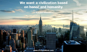 ... on honor and humanity - Ruhollah Khomeini Quotes - StatusMind.com