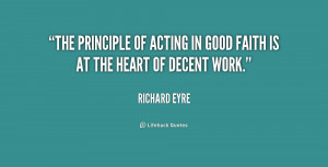 The principle of acting in good faith is at the heart of decent work ...