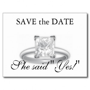 File Name : she_said_yes_save_the_date_diamond_ring_cards_postcard ...