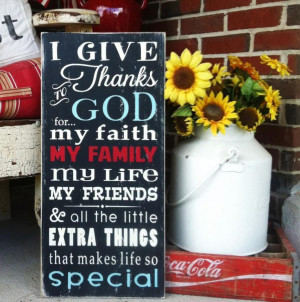 God Quotes About Family I give thanks quotes family