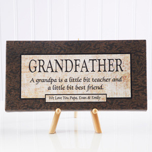 Grandfather Personalized Canvas Print- 5½