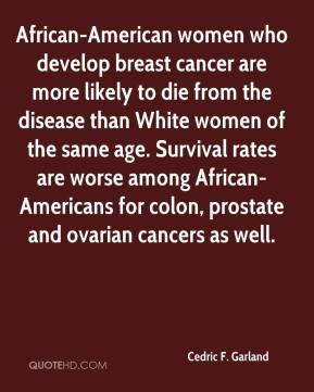 Cedric F. Garland - African-American women who develop breast cancer ...