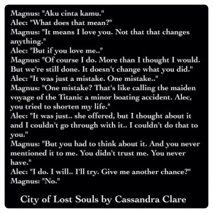 Alexander 'Alec' Lightwood and Magnus Bane (City of Lost Souls by ...