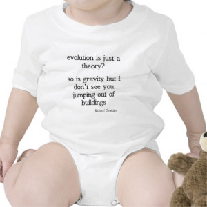 Richard Dawkins funny evolution quote Rompers