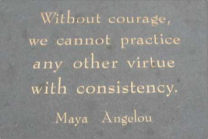 Maya Angelou's poem plague near the City Lights Bookstore