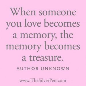 Treasured memories.