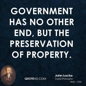 John Locke Government Quotes