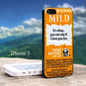 Taco Bell Sauce Packet Sayings - Design For iPhone 5 Black Case