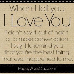 When I Tell You 'I Love You'