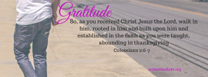 Gratitude Facebook Cover Series - Walk abounding in thanksgivng -