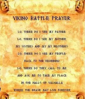 Vikings Prayer, Vikings Living, Vikings Inspiration, Prayer 13Th, Menu ...