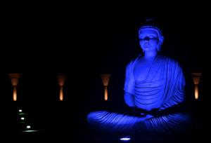 Lord Buddha : Blue Statue Image