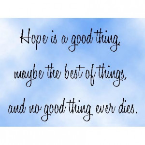 shawshank redemption quotes hope