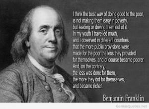 Benjamin Franklin famous quote image 2014 / Genius Quotes