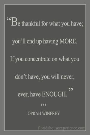 ... Oprah Winfrey #thankful #grateful #bethankful #appreciation #happiness