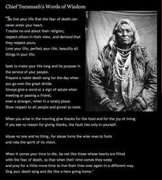 The Wisdom of Chief Tecumseh