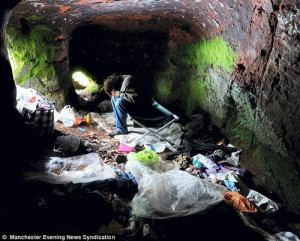 When things are really bad: Homeless people are forced to live in ...
