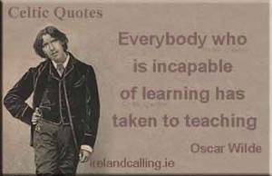 Cartoon illustration of Oscar Wilde quote: