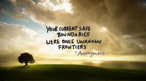 boundaries…