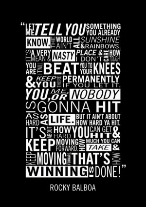 Home / Posters / Rocky Balboa Typography Poster by Adam Armstrong