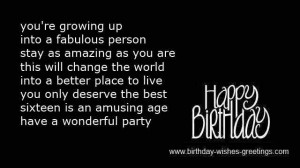 Sweet 16 Birthday Quotes For Daughter ~ 16th sweet birthday poems best ...