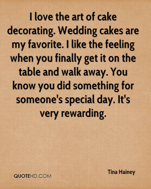 love the art of cake decorating. Wedding cakes are my favorite. I ...