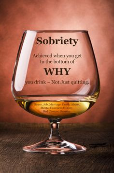 Sobriety from #alcoholism comes from getting to the reasons WHY you ...