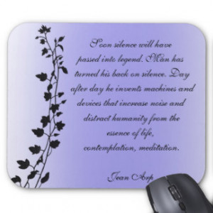 Jean Arp Quotes Clinging Vines Mousepad