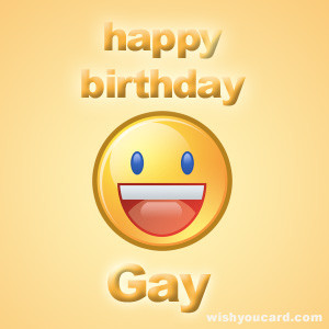 Say happy birthday to Gay with these free greeting cards