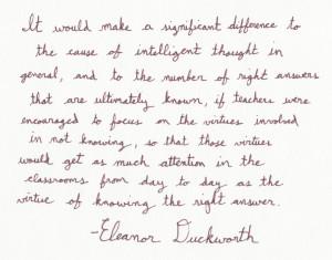 The Graphic Recorder - Handwritten Quotes - Eleanor Duckworth - The ...